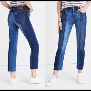Madewell Cruiser Straight Ankle Jeans in Two-Toned